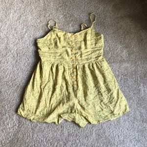 Pale Yellow Urban Outfitters Romper